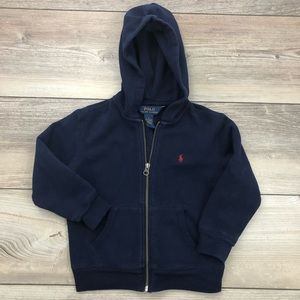 POLO Ralph Lauren size 4 navy zip up hoodie